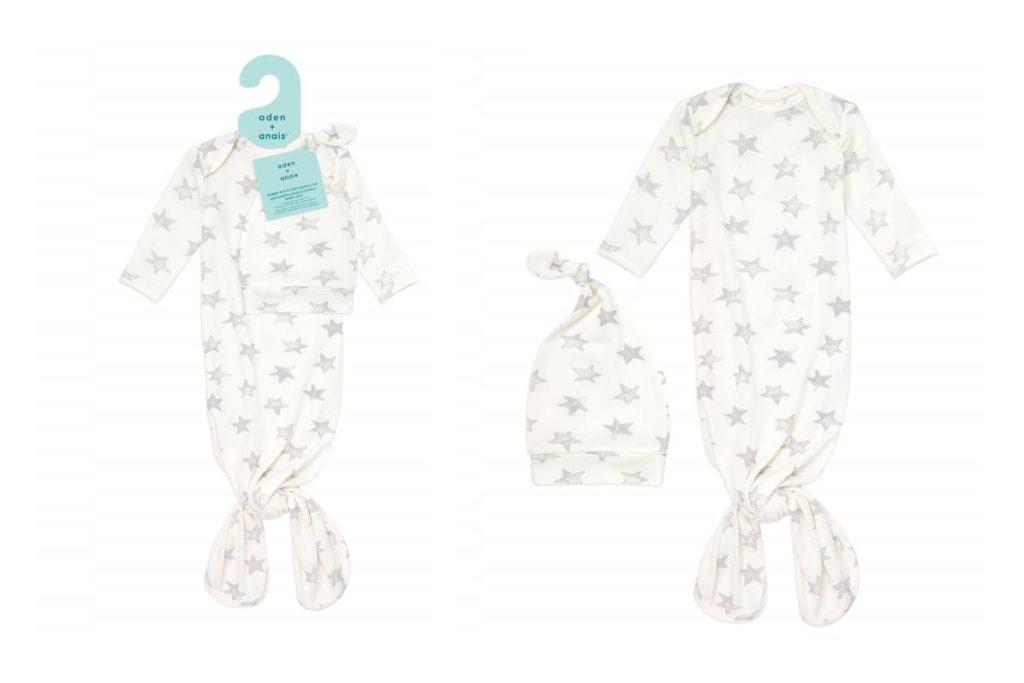エイデンアンドアネイ Snuggle knit gown + hat set