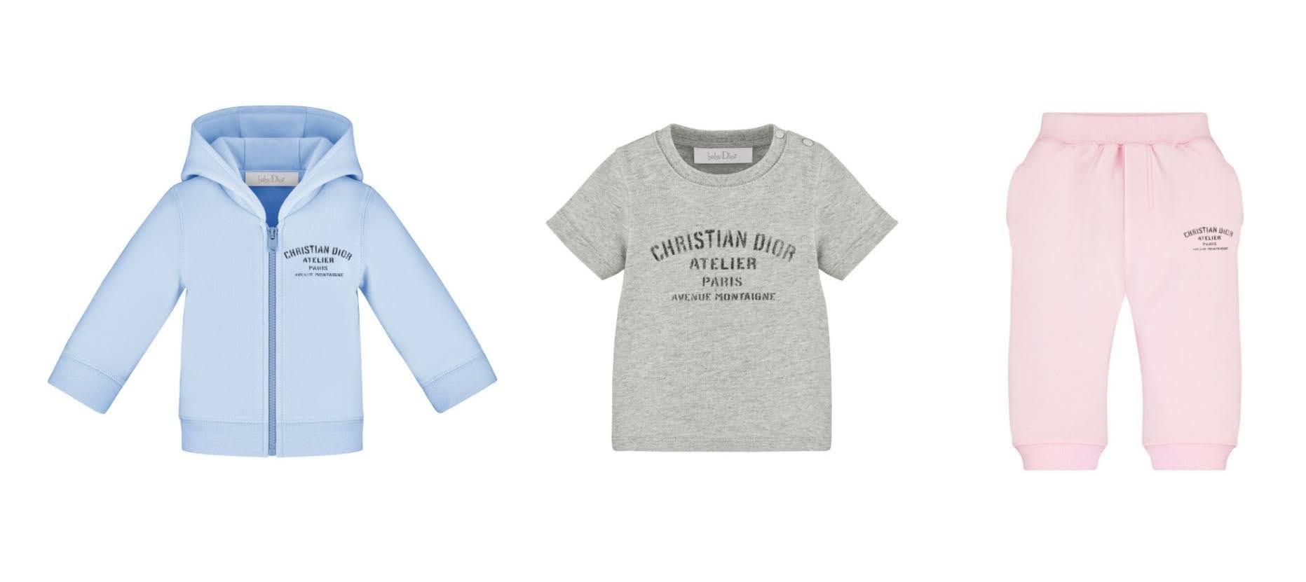 ベビーディオールの新作カプセルコレクション「クリスチャン ディオール アトリエ」パステルカラーのベビー服
