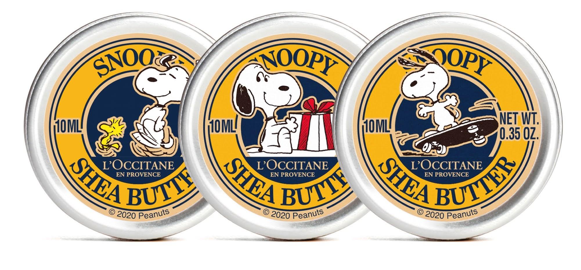 SNOOPY シアバタートリオ 3,960円(税込) キット内容:SNOOPY シアバター10ml×3